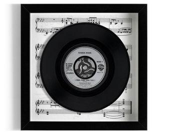 """Chaka Khan """"I Feel For You"""" Framed 7"""" Vinyl Record"""