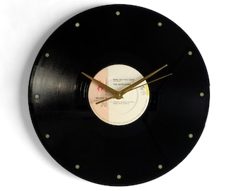 """The Intruders """"Who Do You Love"""" Vinyl Record Wall Clock"""