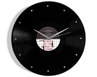 """Wings """"At The Speed Of Sound"""" Vinyl Record Wall Clock"""