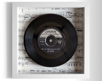 "Roy Orbison ""Only The Lonely (Know How I Feel)"" Framed 7"" Vinyl Record"