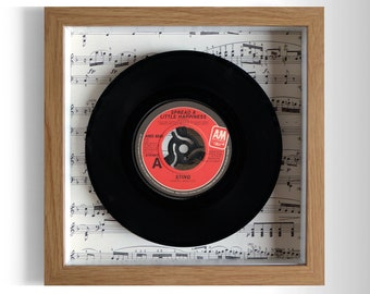 """Sting """"Spread A Little Happiness"""" Framed 7"""" Vinyl Record"""