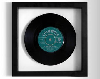 """Shirley Bassey """"As Long As He Needs Me"""" Framed 7"""" Vinyl Record"""