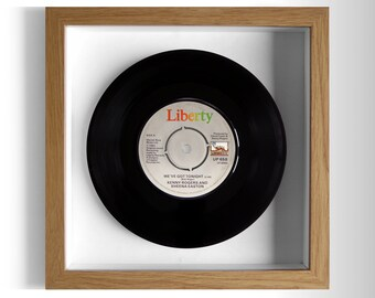 "Kenny Rogers & Sheena Easton ""We've Got Tonight"" Framed 7"" Vinyl Record"