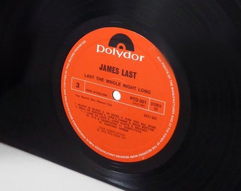 "James Last ""The Whole Night Long"" Large Vinyl Record Bookends"
