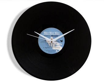 """Wet Wet Wet """"Popped In Souled Out"""" Vinyl Record Wall Clock"""