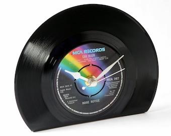 Vinyl Record Desk Clock