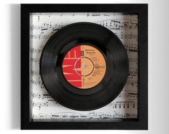 "Queen ""Bohemian Rhapsody"" Framed 7"" Vinyl Record"