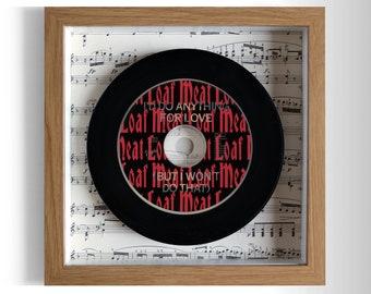 """Meat Loaf """"I'd Do Anything For Love"""" Framed CD"""