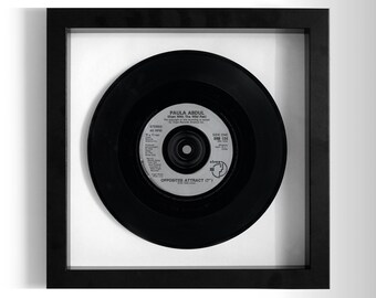 "Paula Abdul ""Opposites Attract"" Framed 7"" Vinyl Record"