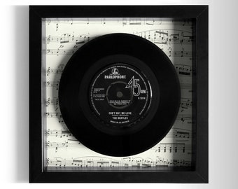 """The Beatles """"Can't Buy Me Love"""" Framed 7"""" Vinyl Record"""