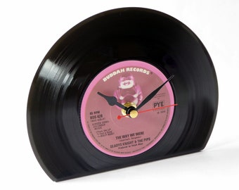 """Gladys Knight & The Pips """"The Way We Were"""" Vinyl Record Desk Clock"""