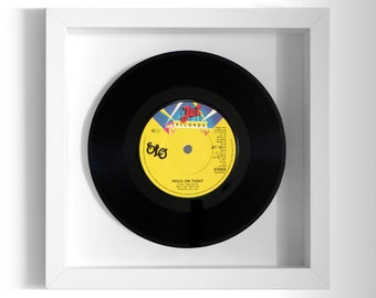 """Electric Light Orchestra ELO """"Hold On Tight"""" Framed 7"""" Vinyl Record"""