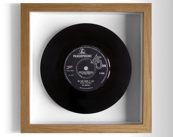"The Beatles ""We Can Work It Out"" Framed 7"" Vinyl Record"
