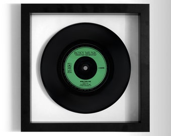 "Roxy Music ""More Than This"" Framed 7"" Vinyl Record"