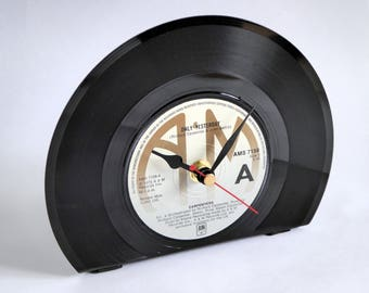 Vinyl Record Desk Clock