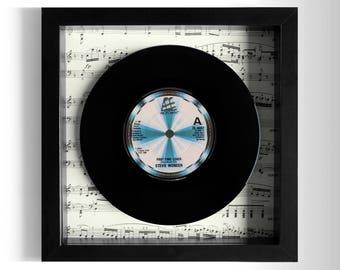 """Stevie Wonder """"Part-Time Lover"""" Framed 7"""" Vinyl Record"""