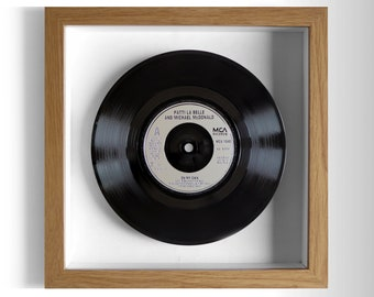 "Patti La Belle & Michael McDonald ""On My Own"" Framed 7"" Vinyl Record"