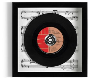 """Queen """"Crazy Little Thing Called Love"""" Framed 7"""" Vinyl Record"""
