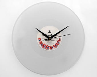 "The Three Degrees ""The Runner"" White Vinyl Record Wall Clock"