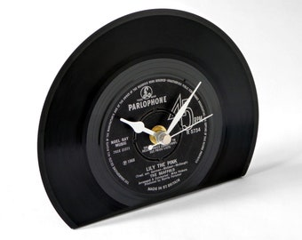 """The Scaffold """"Lily The Pink"""" Vinyl Record Desk Clock"""