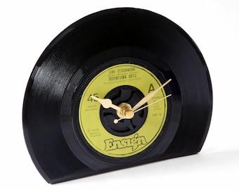 "Boomtown Rats ""Like Clockwork"" Vinyl Record Desk Clock"