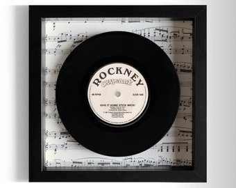 "Chas & Dave ""Give It Some Stick Mick!"" Framed 7"" Vinyl Record"