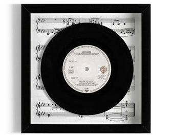 """Bee Gees """"You Win Again"""" Framed 7"""" Vinyl Record"""