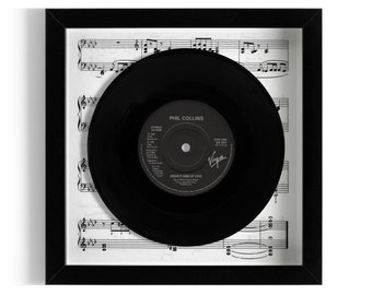"Phil Collins ""Groovy Kind Of Love"" Framed 7"" Vinyl Record"