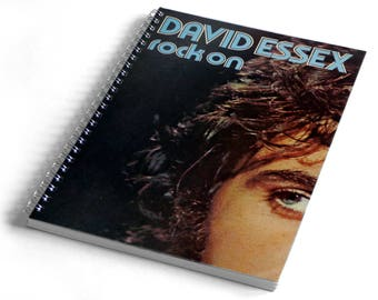 David Essex A5 Notebook from Vintage Vinyl Record Sleeve