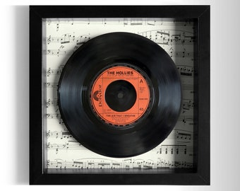 "The Hollies ""The Air That I Breathe"" Framed 7"" Vinyl Record"
