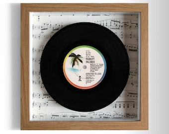 """Robert Palmer """"Addicted To Love"""" Framed 7"""" Vinyl Record"""