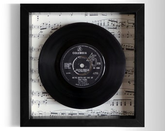 "The Animals ""We've Gotta Get Out Of This Place"" Framed 7"" Vinyl Record"