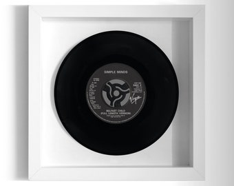"Simple Minds ""Belfast Child"" Framed 7"" Vinyl Record"