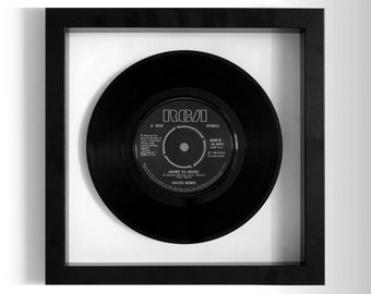 """David Bowie """"Ashes To Ashes"""" Framed 7"""" Vinyl Record"""