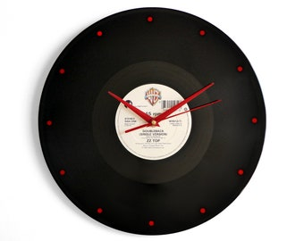 "ZZ Top ""Doubleback"" Vinyl Record Wall Clock"