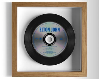 "Elton John ""Something About The Way You Look Tonight / Candle In The Wind"" Framed CD"