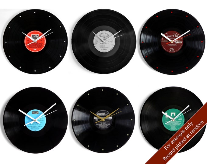 Featured listing image: Vinyl Record Wall Clock