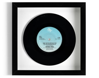 """The Real Thing """"Can't Get By Without You"""" Framed 7"""" Vinyl Record"""