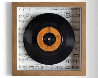 """Barbra Streisand """"Woman In Love"""" Framed 7"""" Vinyl Record"""