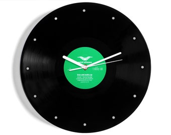 """Saint Etienne """"Kiss And Make Up"""" Vinyl Record Wall Clock"""