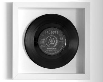 """Kate Robbins """"More Than In Love"""" Framed 7"""" Vinyl Record"""