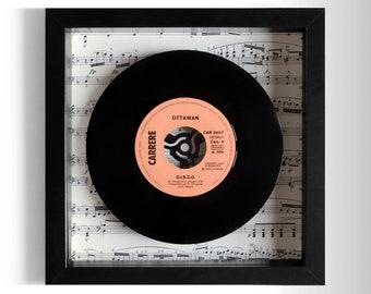 """Ottawan """"D.I.S.C.O."""" Framed 7"""" Vinyl Record"""