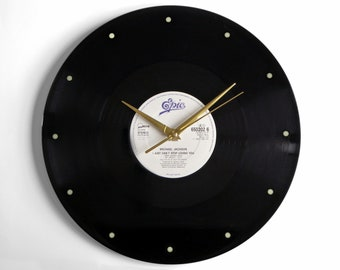 "Michael Jackson ""I Just Can't Stop Loving You"" Vinyl Record Wall Clock"