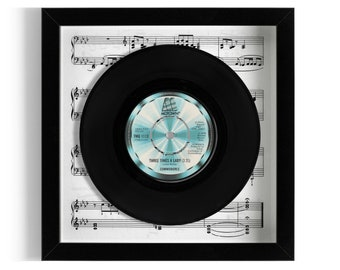 """Commodores """"Three Times A Lady"""" Framed 7"""" Vinyl Record"""