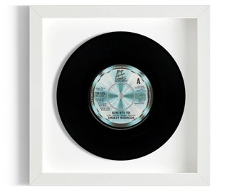 """Smokey Robinson """"Being With You"""" Framed 7"""" Vinyl Record"""