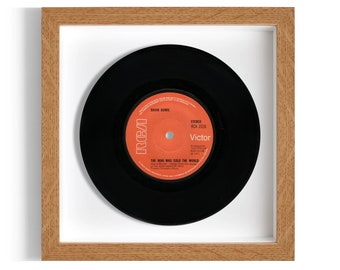 """David Bowie """"The Man Who Sold The World"""" Framed 7"""" Vinyl Record"""