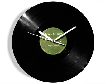 "Roxy Music ""Angel Eyes"" Vinyl Record Wall Clock"
