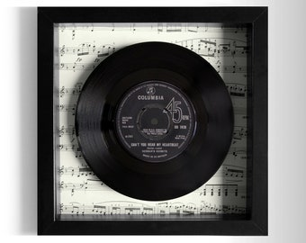 "Herman's Hermits ""Can't You Hear My Heartbeat"" Framed 7"" Vinyl Record"