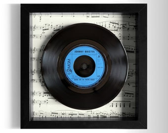 """Johnny Bristol """"Hang On In There Baby"""" Framed 7"""" Vinyl Record"""