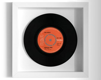 "Elvis Presley ""Suspicious Minds"" Framed 7"" Vinyl Record"
